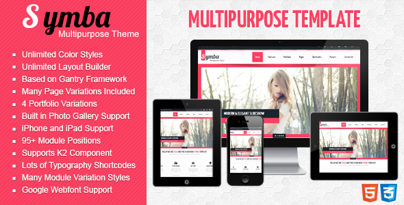 Symba - Multipurpose Responsive Joomla! Template