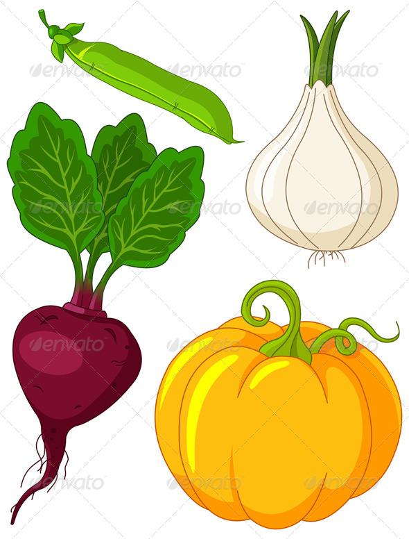 GraphicRiver Set of Vegetables 4734565