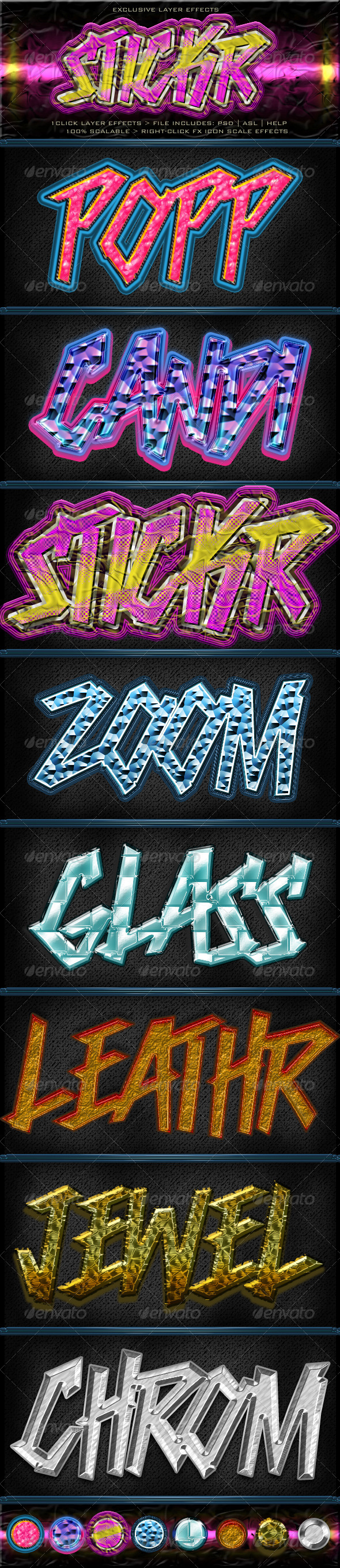 GraphicRiver Stickr Layer Styles 4734593