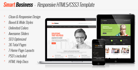 ThemeForest Smart Business Responsive HTML5 Template 4734600