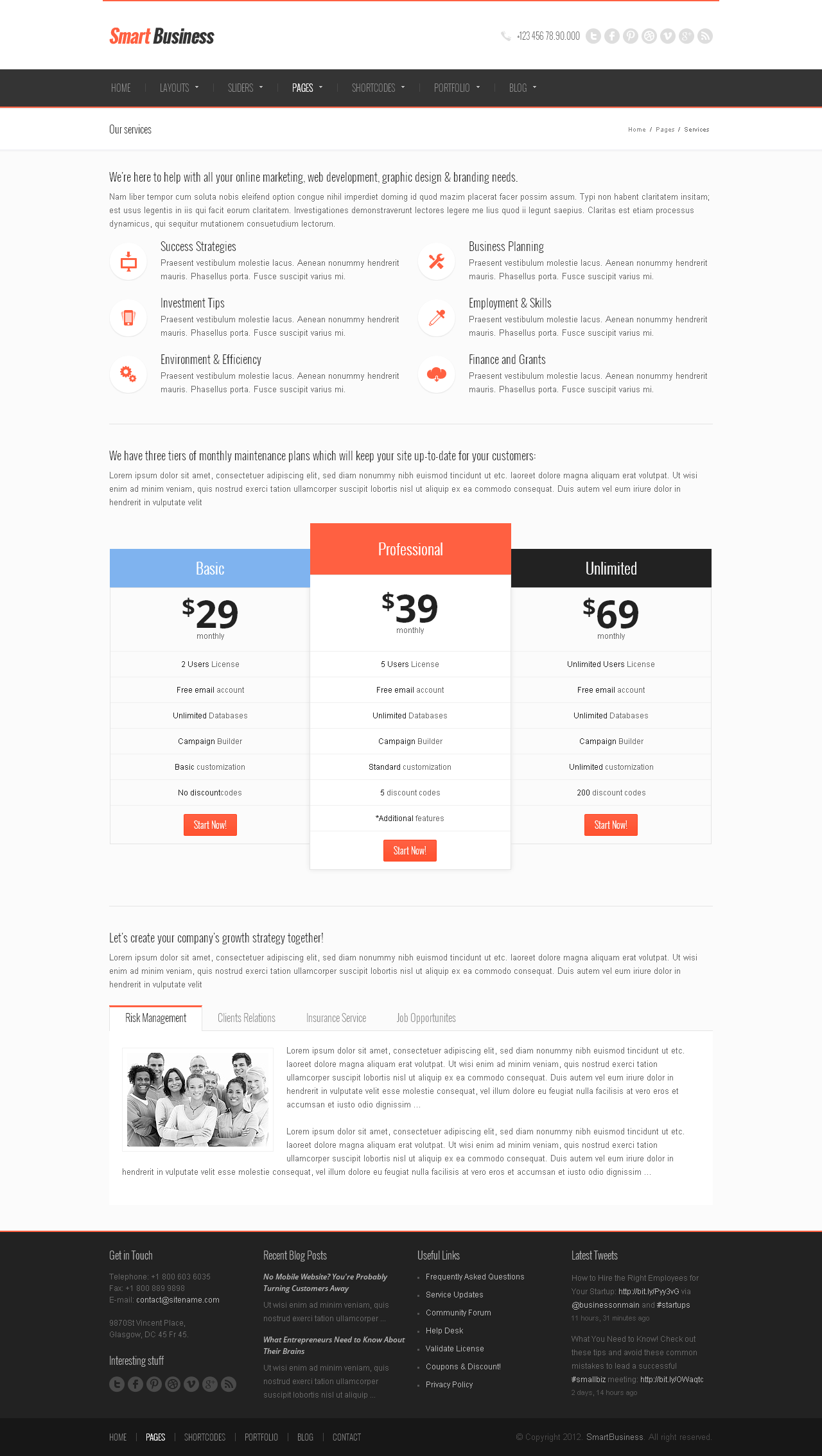 Smart Business - Responsive HTML5 Template