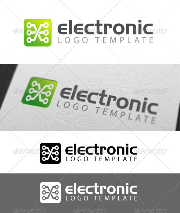 GraphicRiver Electronix Logo Template 3366422