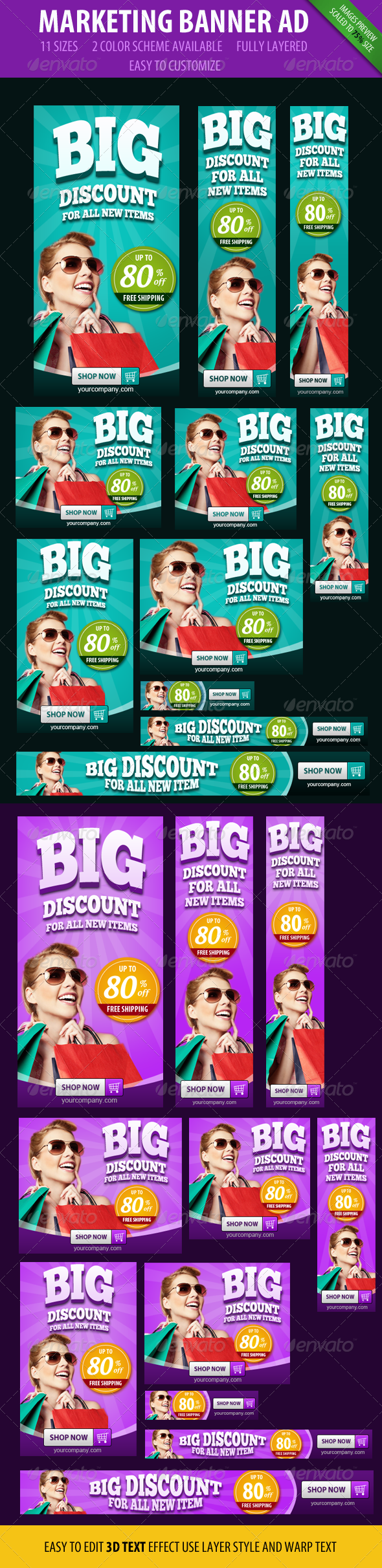 GraphicRiver Marketing Banner ad 3D style 4734748