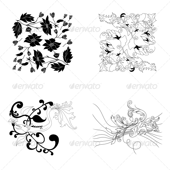 GraphicRiver Decorative Floral Elements Vector Pack 4735027