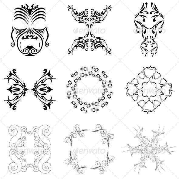 GraphicRiver Decorative Floral Elements Vector Pack 4735040