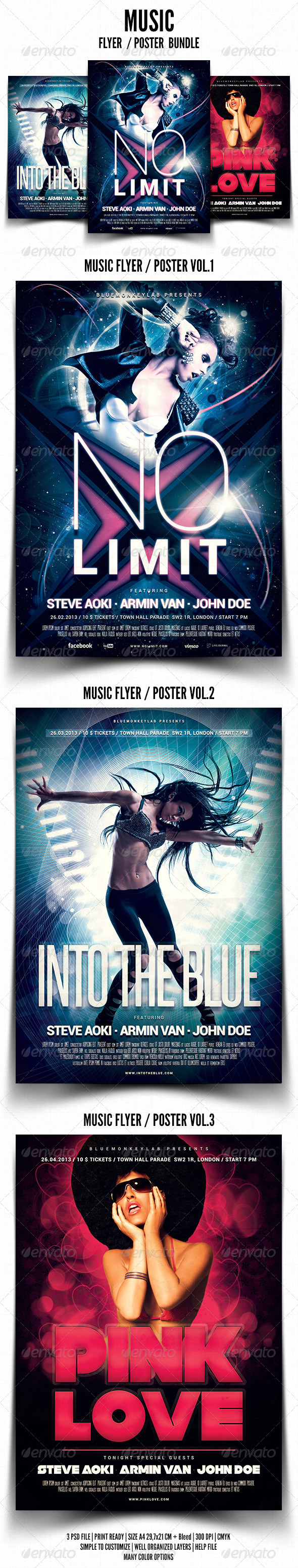 GraphicRiver Music Flyer Poster Bundle 4735182