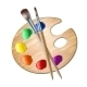 Art Palette with Paint Brush for Drawing - GraphicRiver Item for Sale