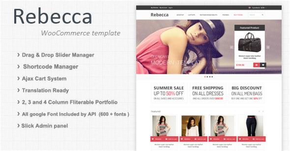 Rebecca - Premium Responsive  WooCommerce theme