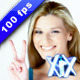 Woman With Victory Sign - VideoHive Item for Sale