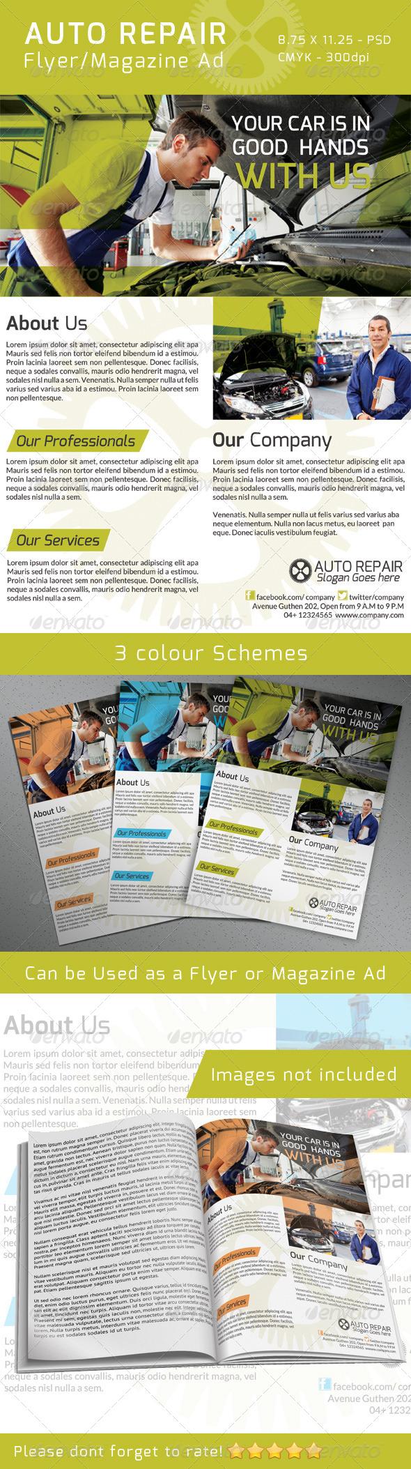 GraphicRiver Auto Repair Flyer Magazine Ad 4735593