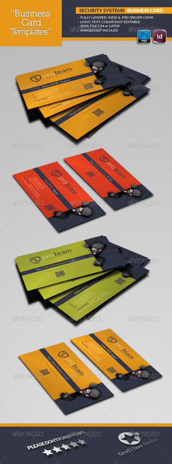 GraphicRiver Security Systems Business Card Template 4735782
