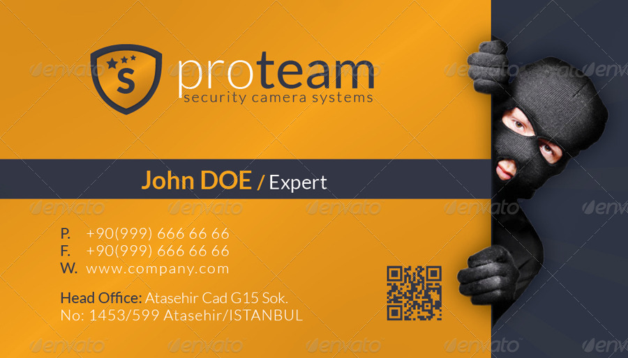 Security Systems Business Card Template By Grafilker