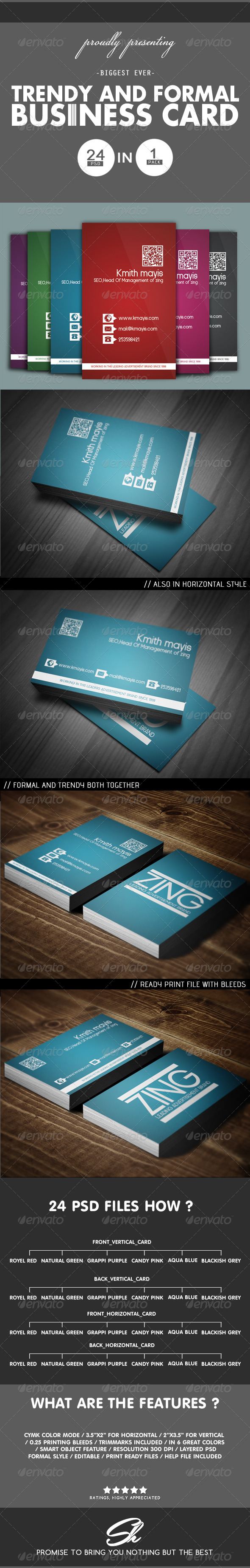 GraphicRiver Trendy Business card 4573554