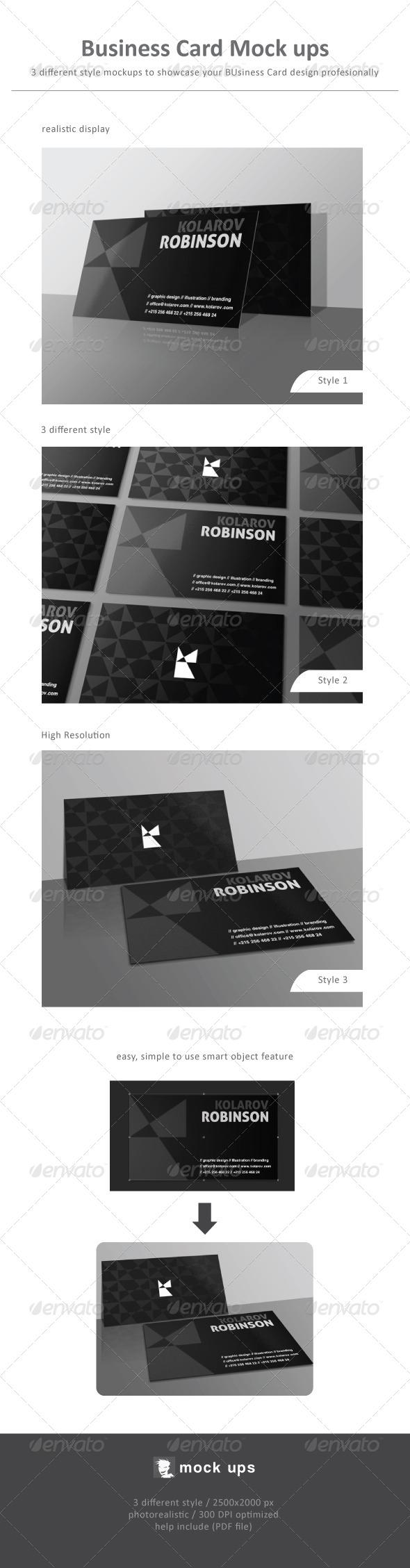 Business Card Mock Ups - Business Cards Print