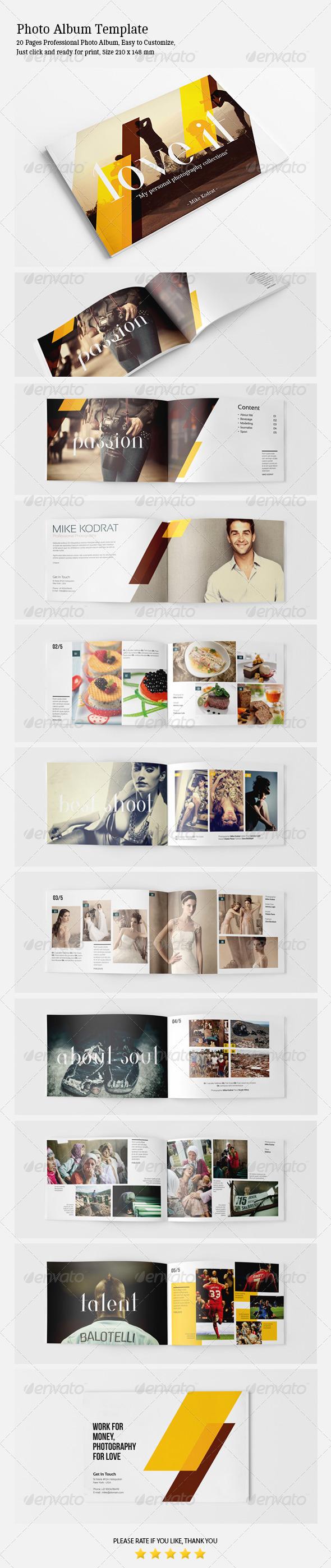 GraphicRiver Photo Album Template 4736280