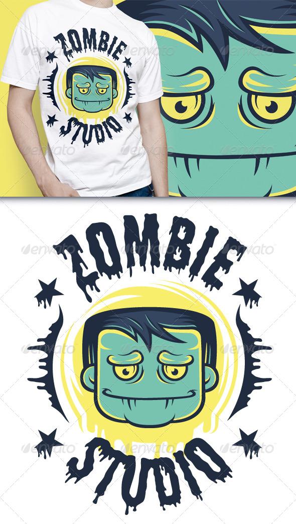 GraphicRiver Zombie T-Shirt 4736328