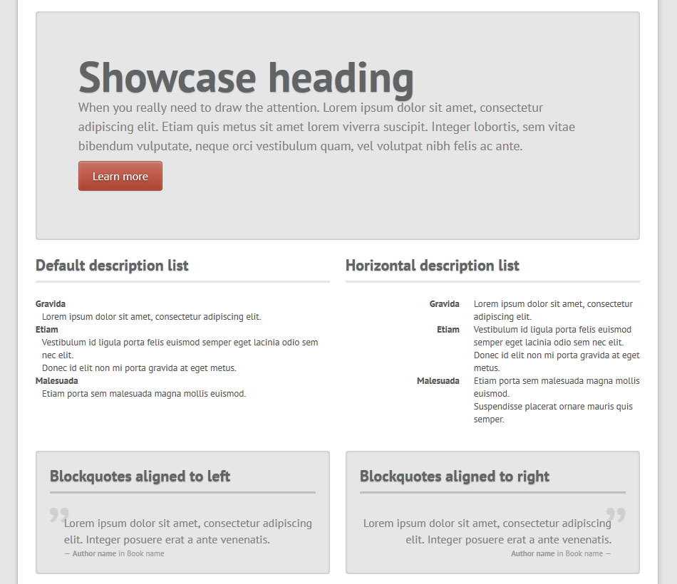Chromatron HTML5 Admin Backend - Chromatron typo showcase