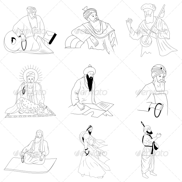 GraphicRiver The Sikhism Guru Vector Designs Pack 4737163