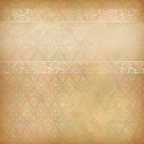 GraphicRiver Vintage Abstract Retro Lace Banner Background 4737199