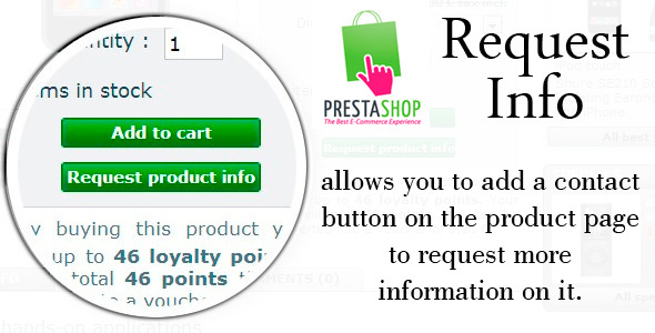 Prestashop Request Info