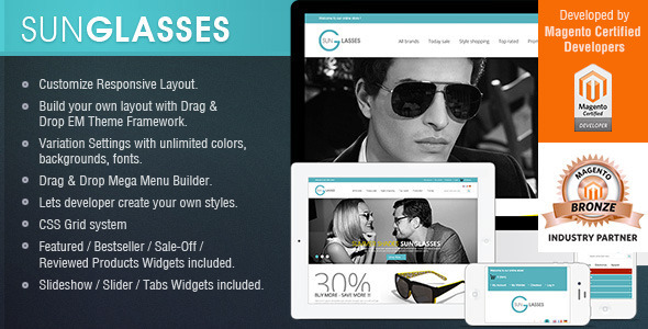 24-Columns Responsive Magento Theme Framework - Fashion Magento