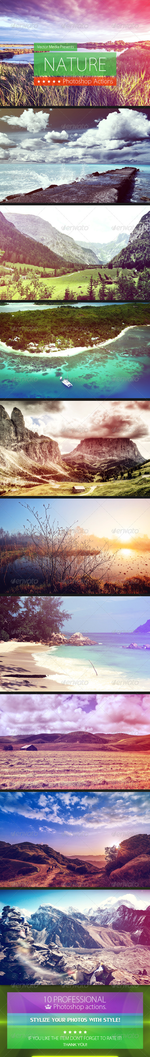 GraphicRiver Nature Photoshop Actions 4737671