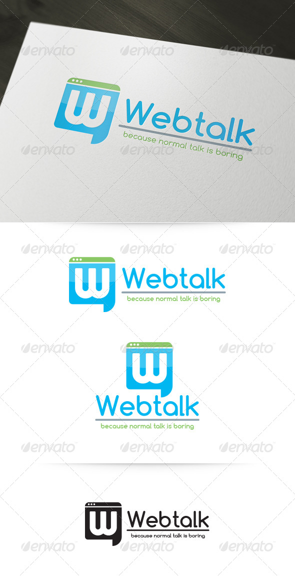 GraphicRiver Web Talk Logo Template 4737741