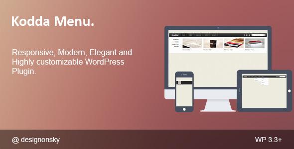 Kodda – Modern and Responsive WordPress Menu  (Menus) images