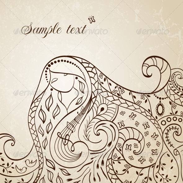 GraphicRiver Long Haired Girl Vector Illustration 4737782