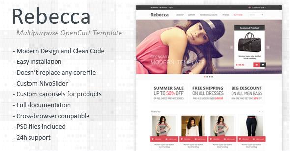 Rebecca - Multipurpose Responsive OpenCart Template