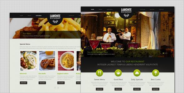 LaMonte - Modern Restaurant HTML Template