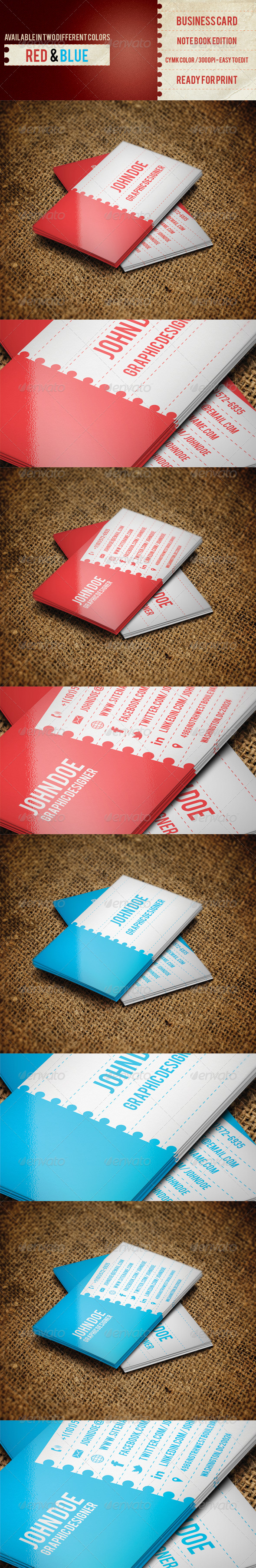GraphicRiver Business Card NoteBook Edition 4737968
