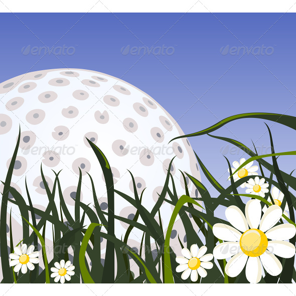 GraphicRiver Golf Ball on the Grass 4737973