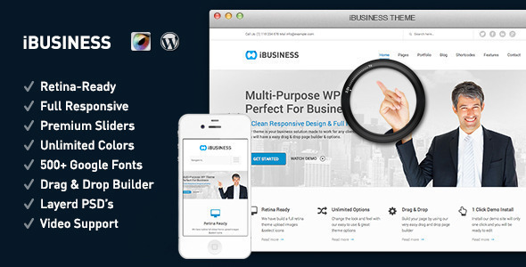 iBUSINESS Retina Responsive Multi-Purpose Theme - Corporate WordPress