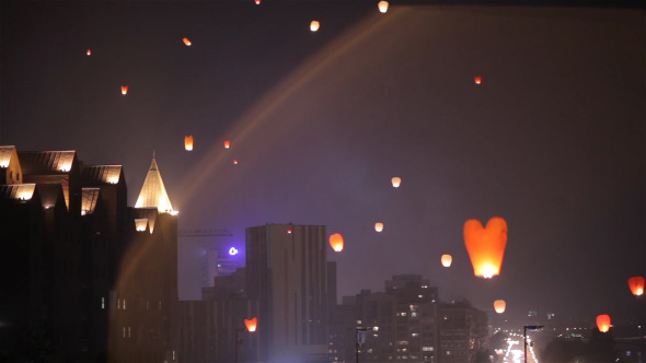 Lanterns Flying