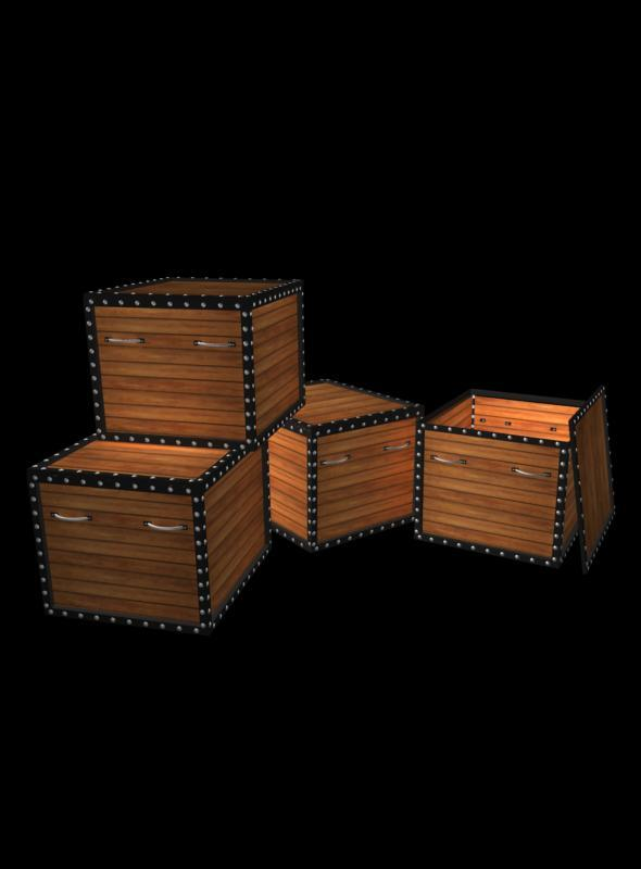 3DOcean Wood Box 4738365