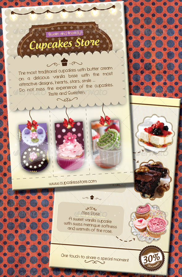 GraphicRiver Sweet Cupcakes Flyer 4738379