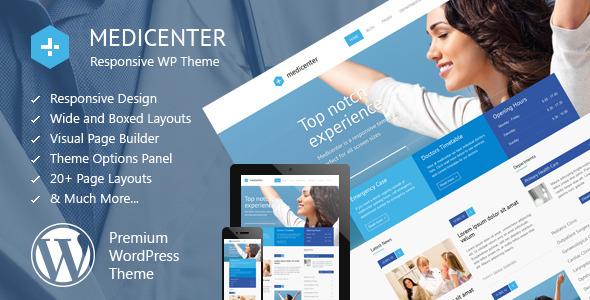 MediCenter - Responsive Medical WordPress Theme - Health & Beauty Retail