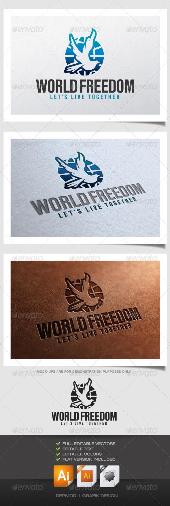 GraphicRiver World Freedom Logo 4738707