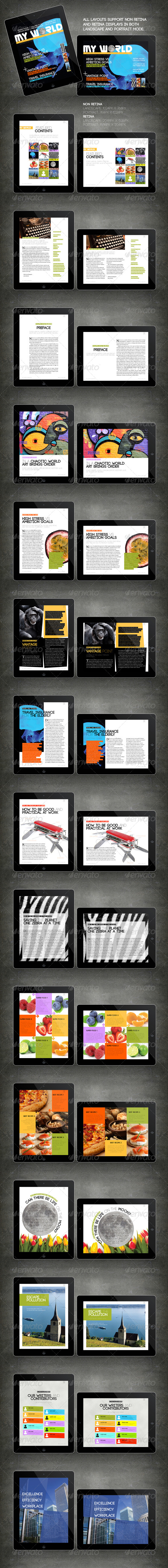 GraphicRiver iPad Tablet Magazine Template 16 Pages 4681764