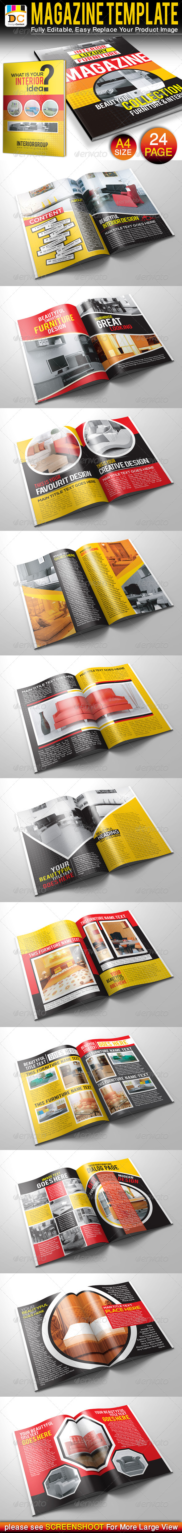 GraphicRiver 24 Pages Furniture & Interior Magazine Templates 4523696