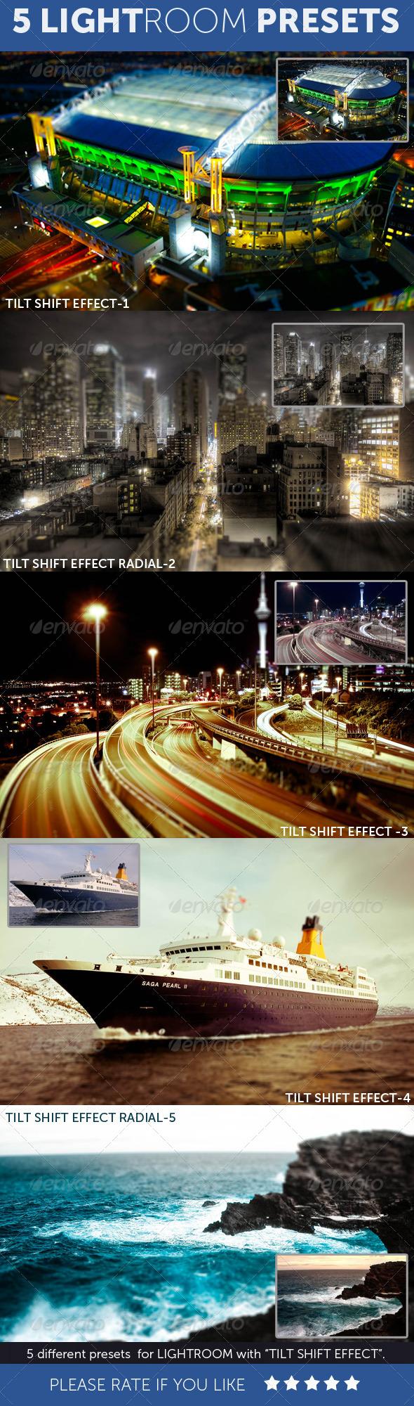GraphicRiver 5 Tilt Shift Effect Lightroom Presets 4738927