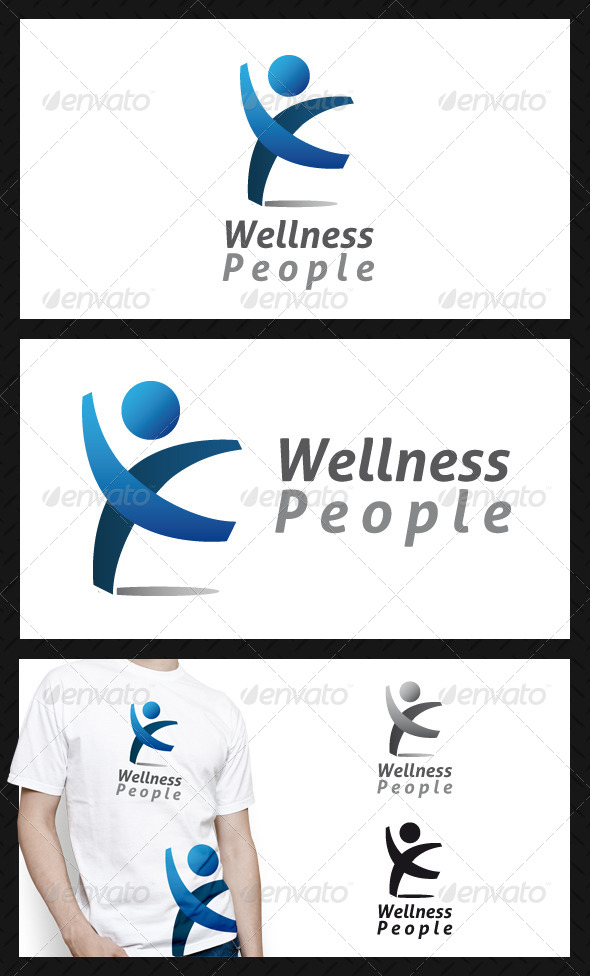 GraphicRiver Wellness People Club Logo Template 4739272