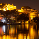 City Palace and Pichola lake at night, Udaipur, Rajasthan, India - PhotoDune Item for Sale