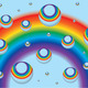Background for a business card with rainbow and drops - PhotoDune Item for Sale