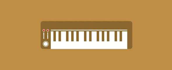 Electric piano wallpaper wide 3