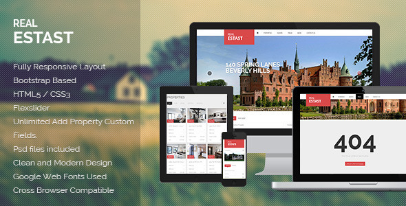 ThemeForest RealEstast Responsive Real Estate Wordpress Theme 4740027