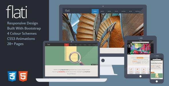 Flati – Responsive Flat Design Bootstrap Template (Portfolio) images