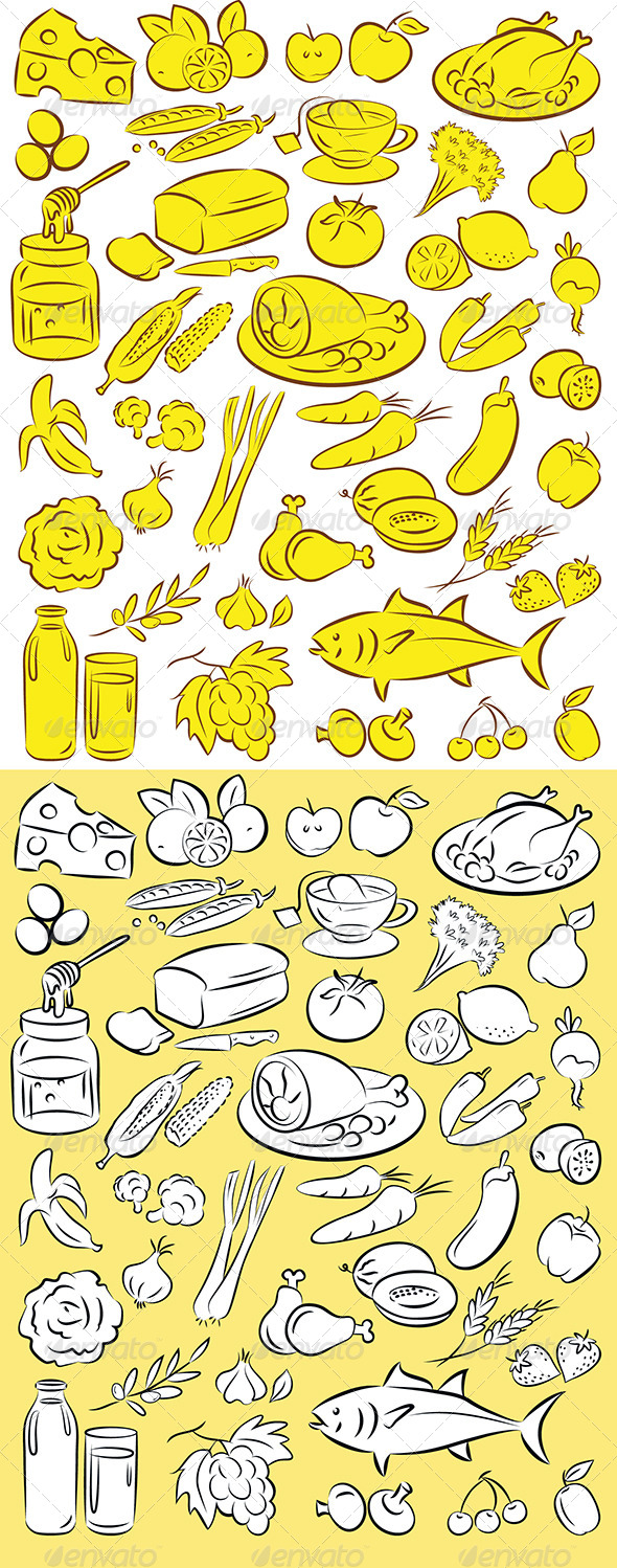 GraphicRiver Healthy Food Vector 4740178