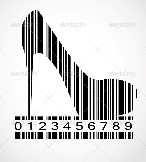 GraphicRiver Barcode Shoe Image Vector Illustration 4740395